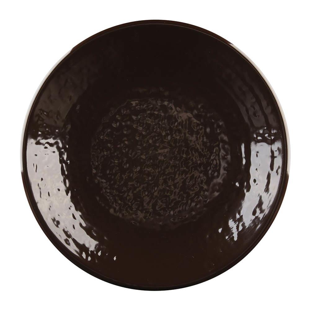 "Elite Global Solutions D638RR 6.38"" Round Pebble Creek Plate - Melamine, Aubergine"