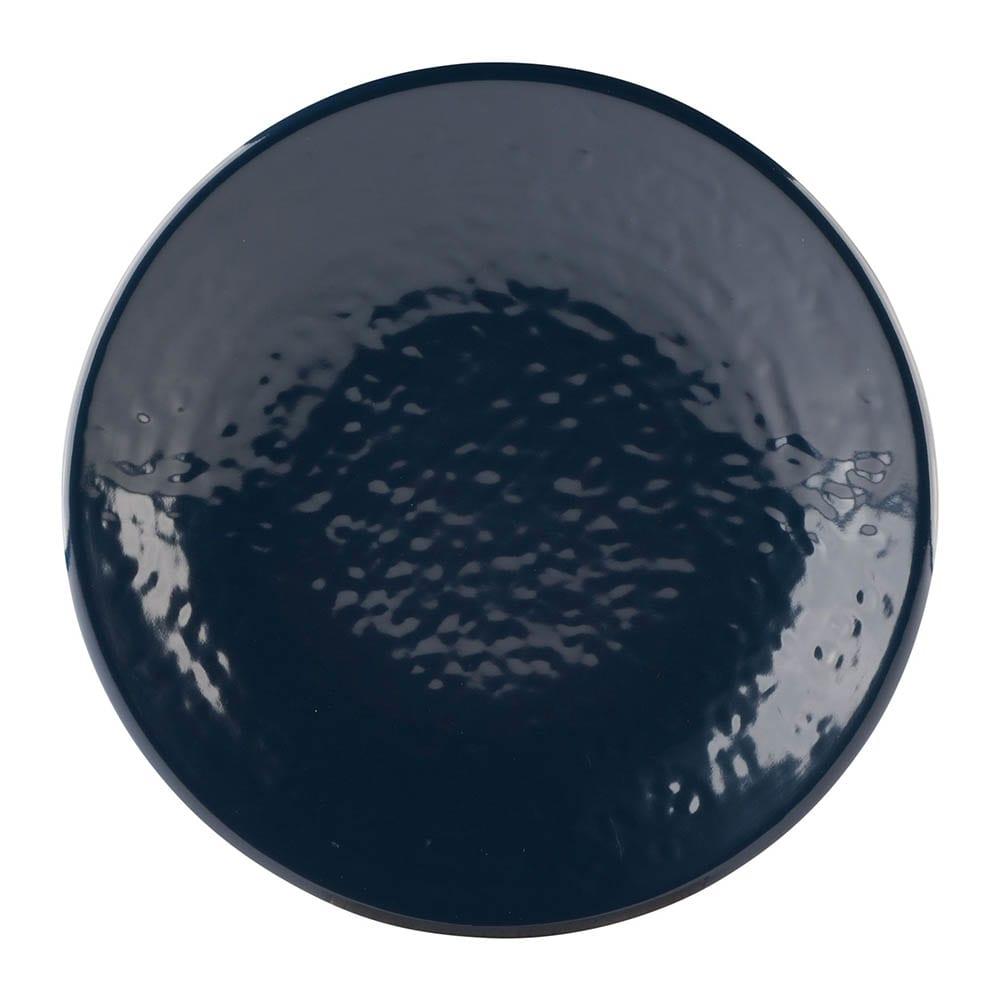 "Elite Global Solutions D638RR 6.38"" Round Pebble Creek Plate - Melamine, Lapis"