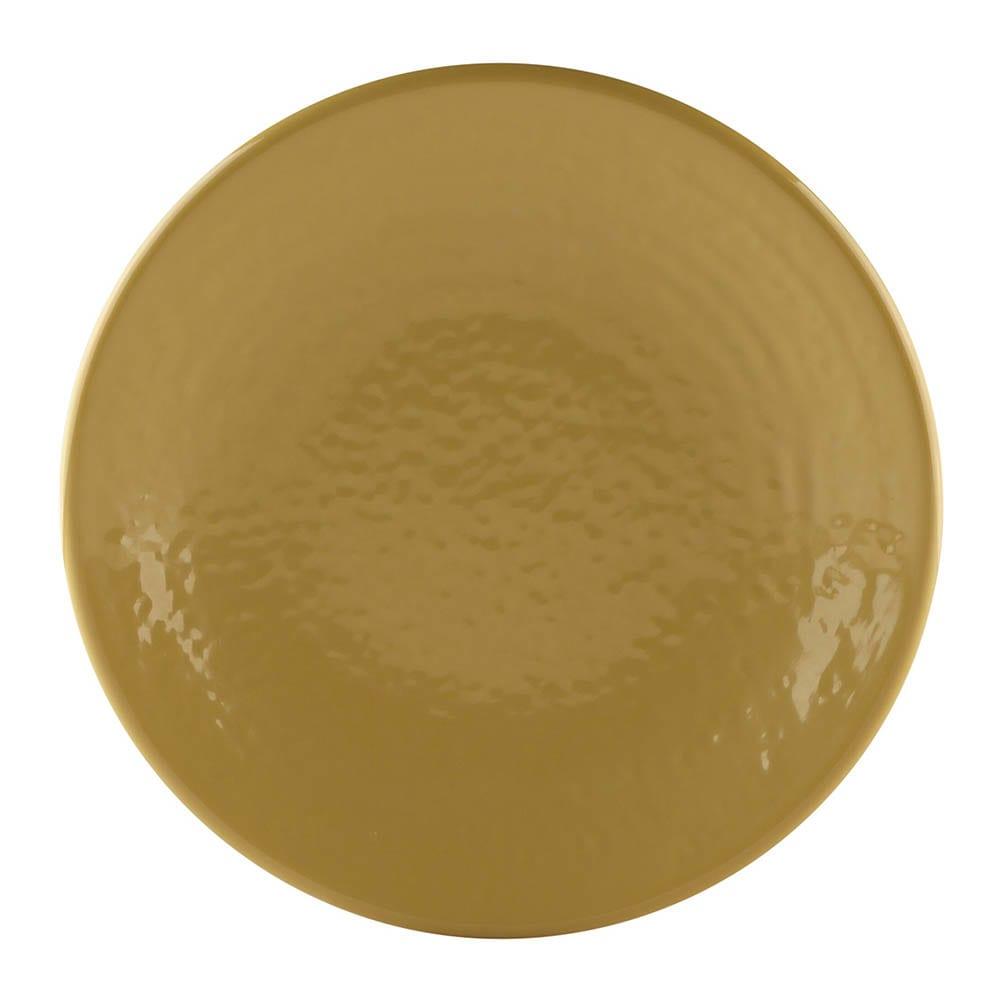 "Elite Global Solutions D638RR 6.38"" Round Pebble Creek Plate - Melamine, Olive Oil"
