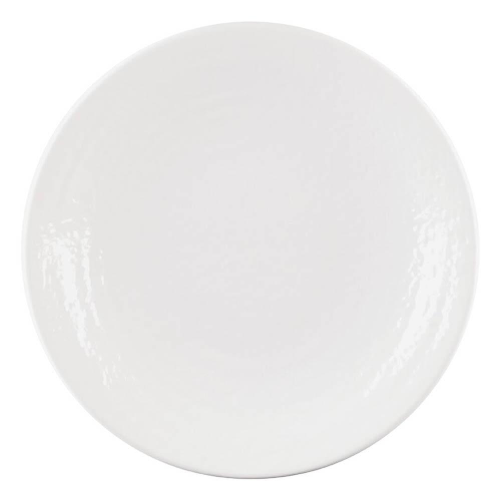 "Elite Global Solutions D638RR-W 6.38"" Pebble Creek Plate - Melamine, White"