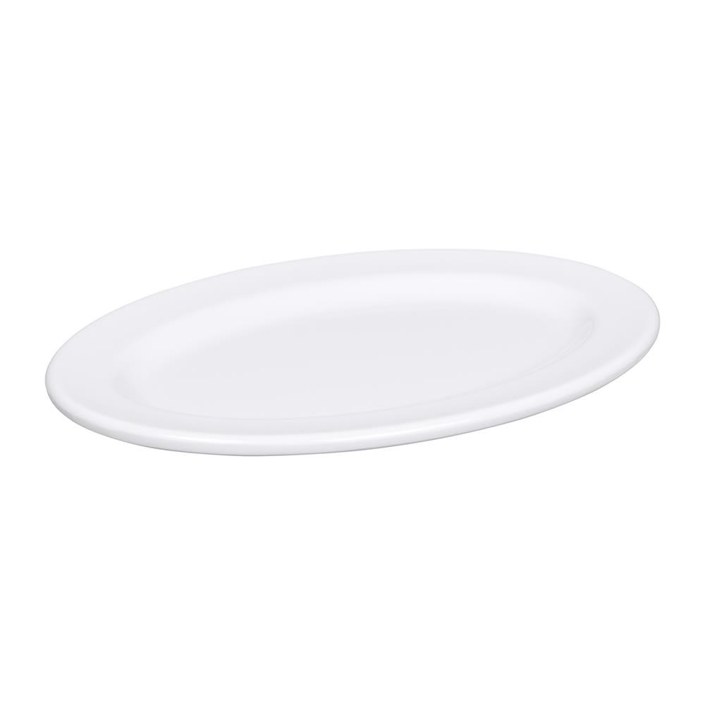 """Elite Global Solutions D69OV-W Merced Oval Platter - 9.25"""" x 6.25"""", Melamine, White"""