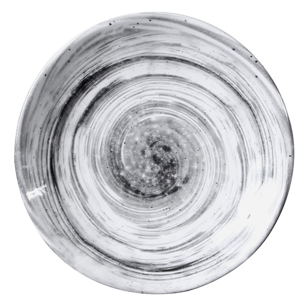 """Elite Global Solutions D71R 7.63"""" Round Van Gogh Plate - Melamine, Black"""