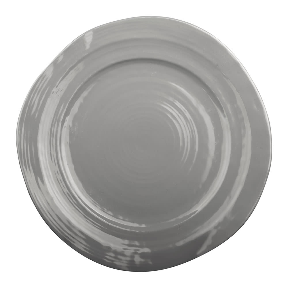 "Elite Global Solutions D750-G 7.5"" Round Della Terra Plate - Melamine, Gray"