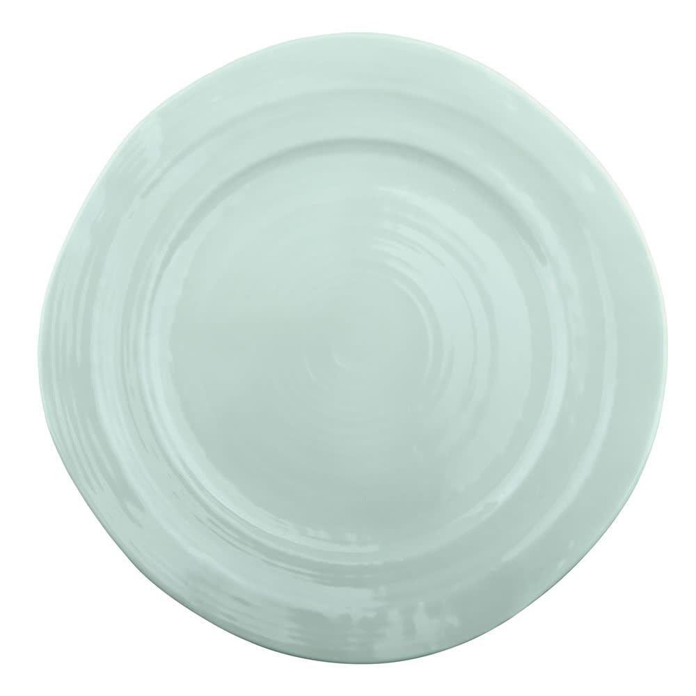 "Elite Global Solutions D750-MG 7.5"" Round Della Terra Plate - Melamine, Mint Green"