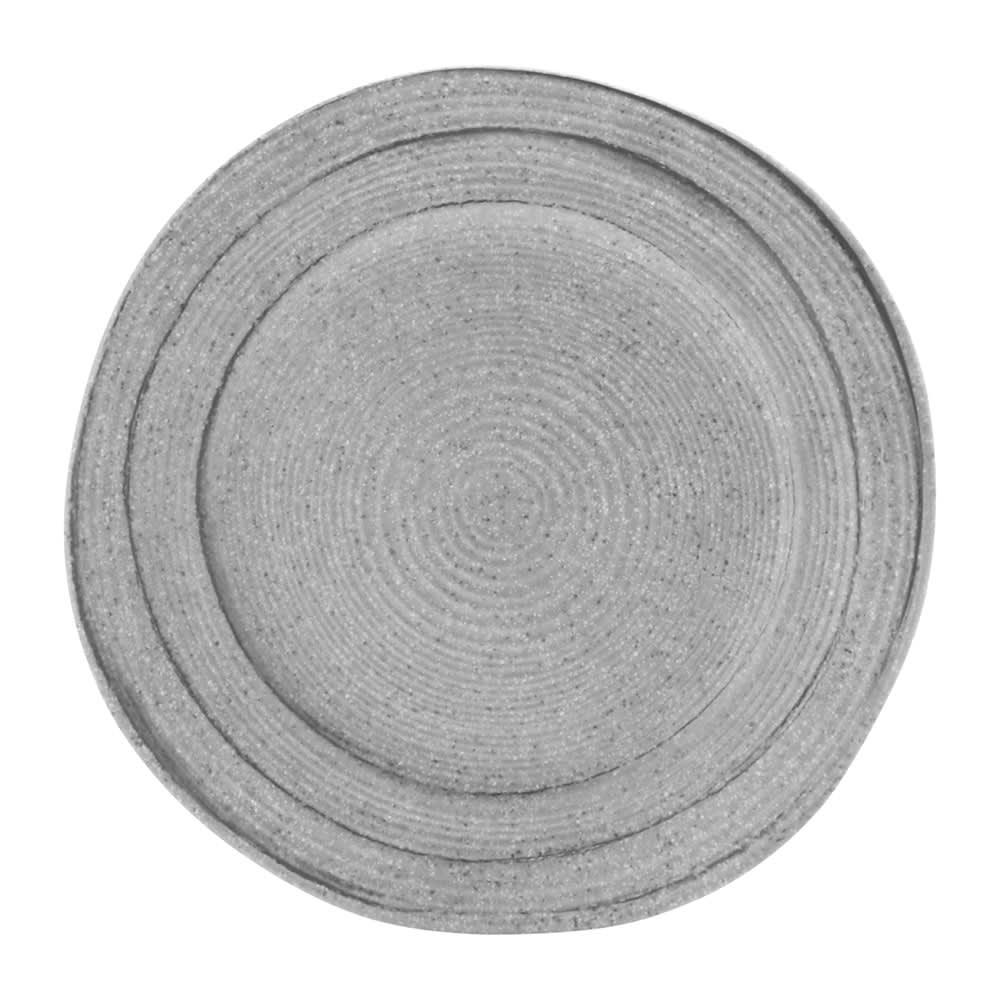 "Elite Global Solutions D750ST 7.5"" Round Della Terra Plate - Melamine, Granite Stone"