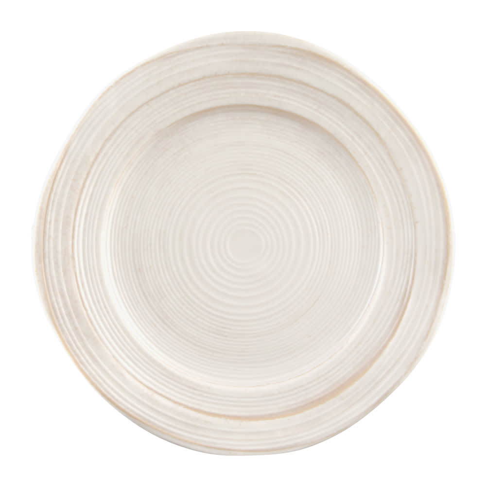 "Elite Global Solutions D750ST 7.5"" Round Della Terra Plate - Melamine, Off-White Stone"
