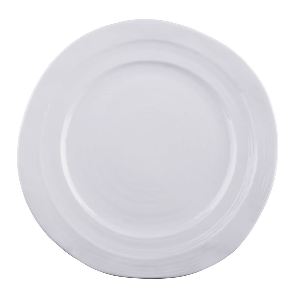 "Elite Global Solutions D750-W 7.5"" Round Della Terra Plate - Melamine, White"