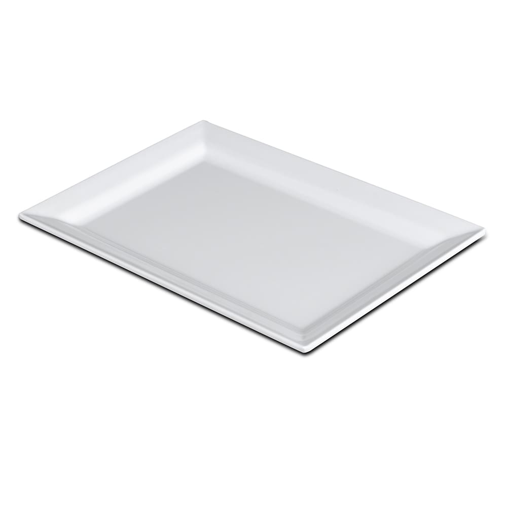 "Elite Global Solutions D7511RC-W Rectangular Vogue Plate - 11"" x 7.5"", Melamine, White"
