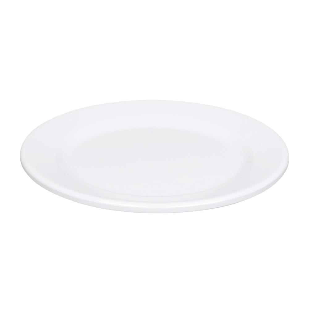"""Elite Global Solutions D775PL-W 7.75"""" Merced Plate - Melamine, White"""
