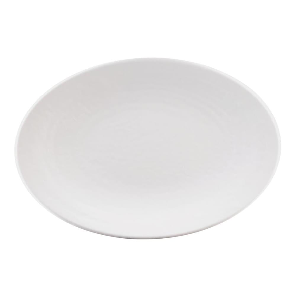 """Elite Global Solutions D812RR-W Pebble Creek Oval Platter - 12.75"""" x 8.75"""", Melamine, White"""