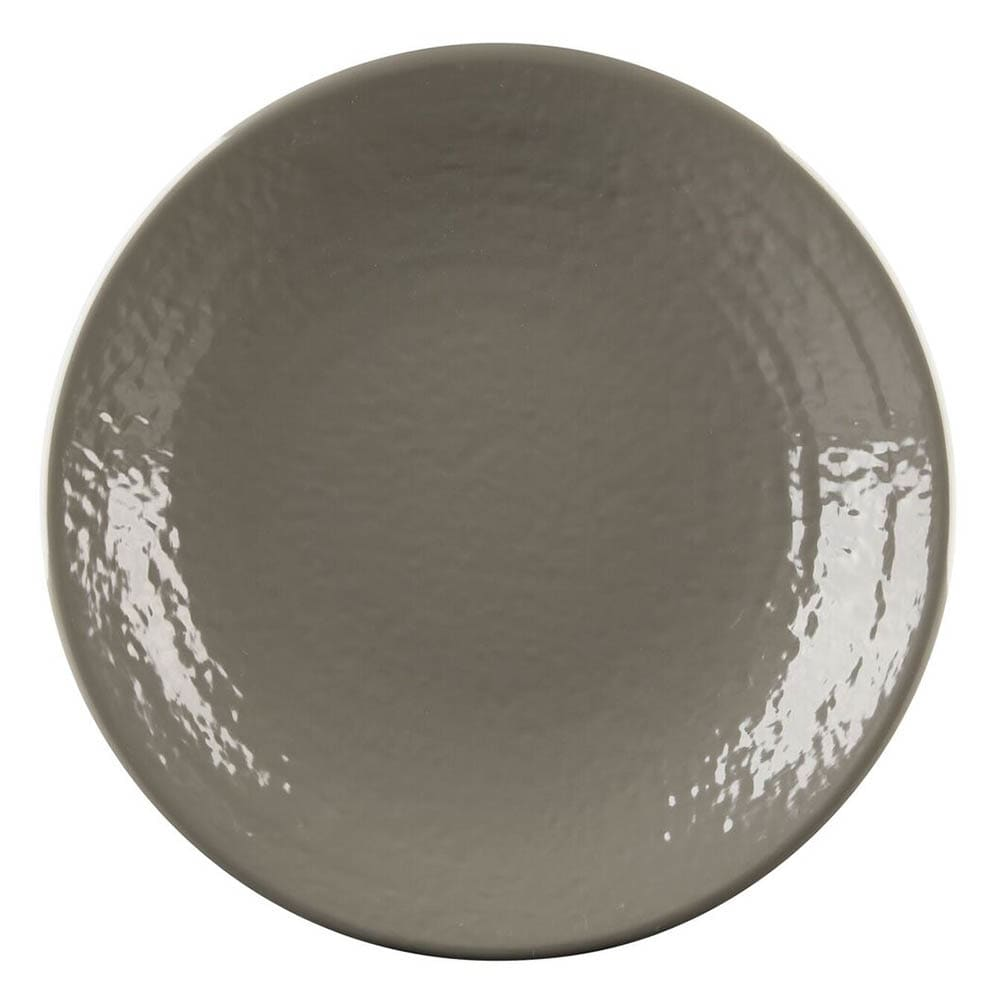 "Elite Global Solutions D814RR 8.25"" Round Pebble Creek Plate - Melamine, Mushroom"