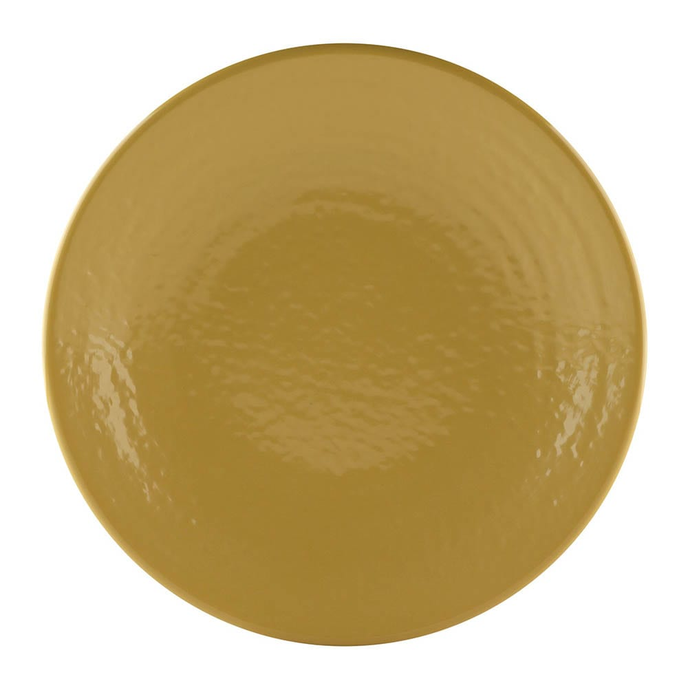 "Elite Global Solutions D814RR 8.25"" Round Pebble Creek Plate - Melamine, Olive Oil"