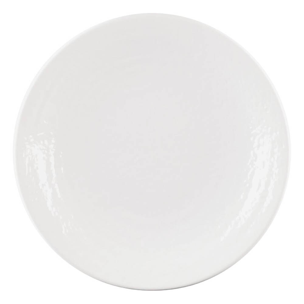 "Elite Global Solutions D814RR-W 8.25"" Pebble Creek Plate - Melamine, White"