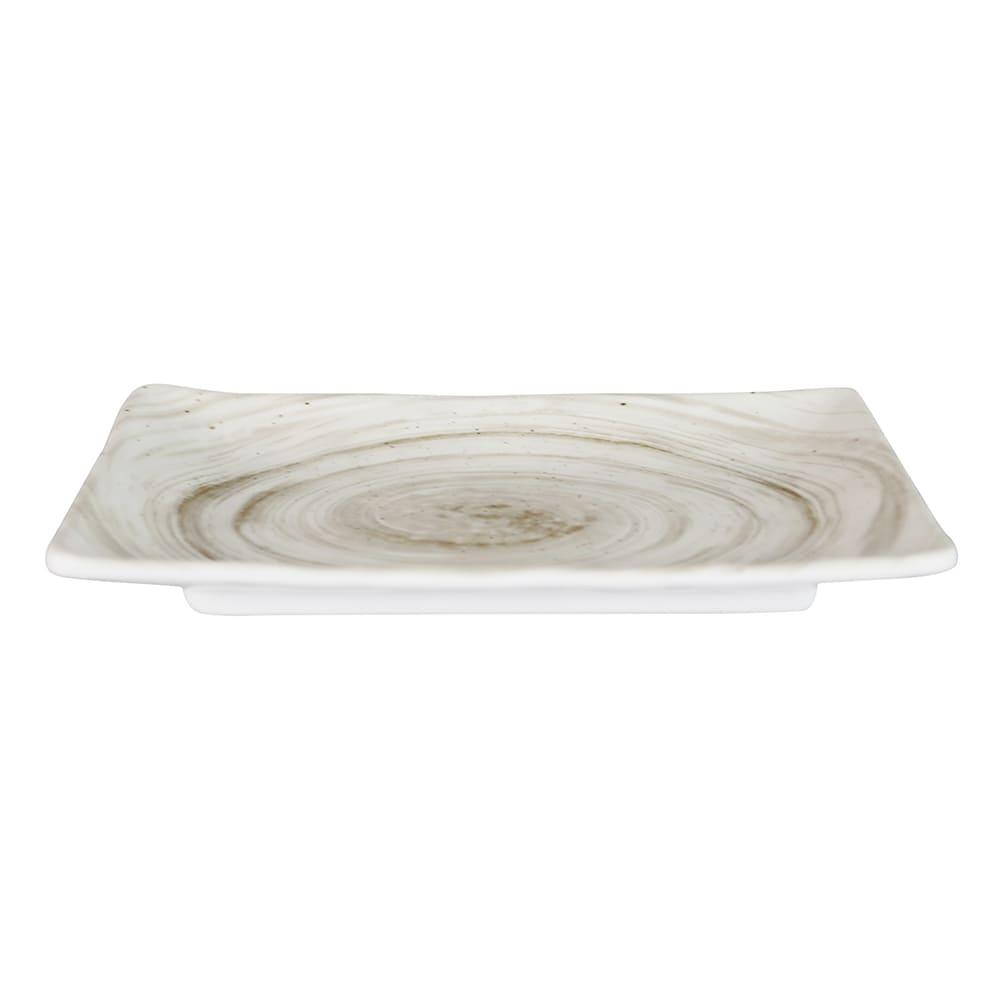 "Elite Global Solutions D851RC Rectangular Van Gogh Plate - 8.5"" x 5.38"", Melamine, Taupe"