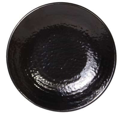 "Elite Global Solutions D9RR 9"" Round Pebble Creek Plate - Melamine, Black"