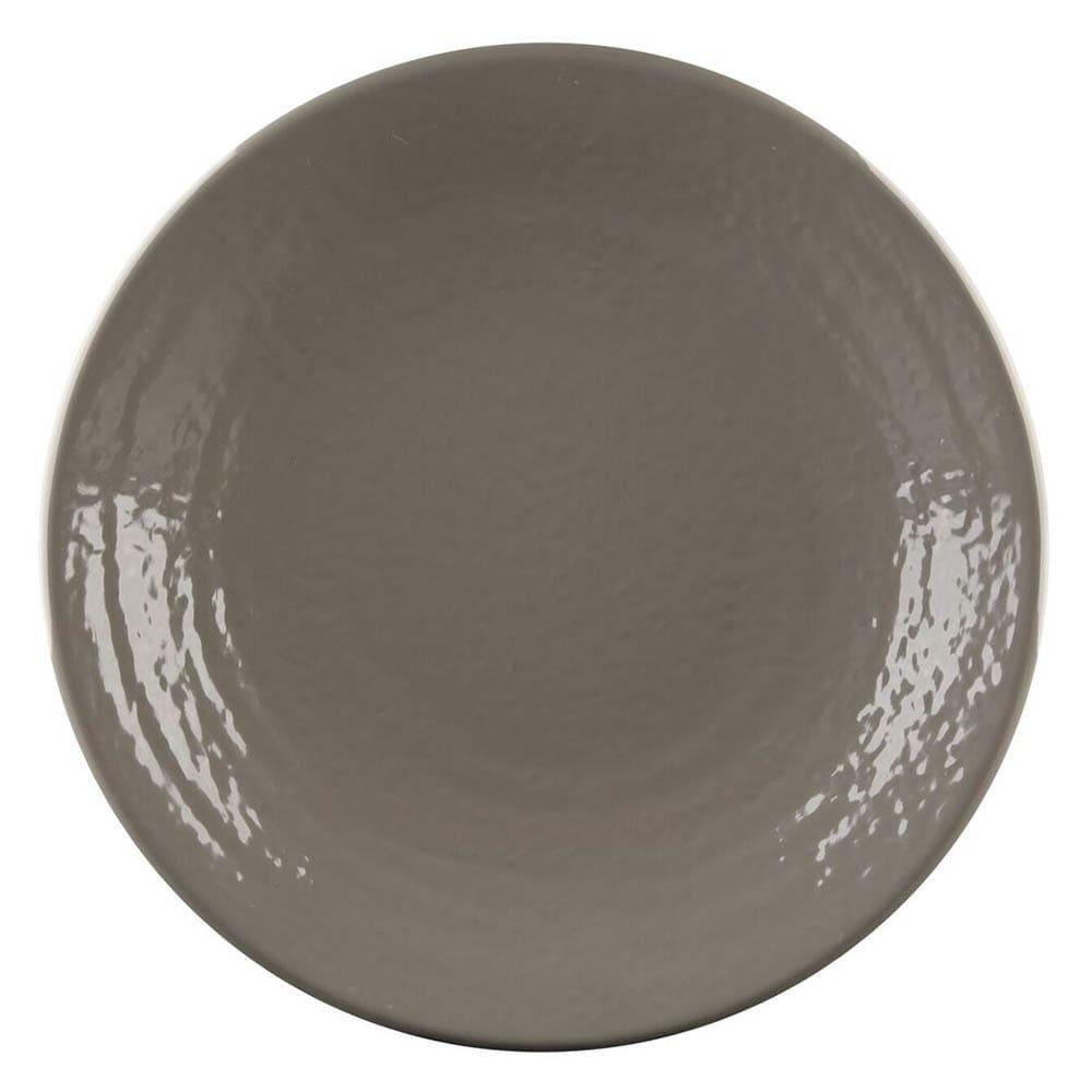 "Elite Global Solutions D9RR 9"" Round Pebble Creek Plate - Melamine, Mushroom"