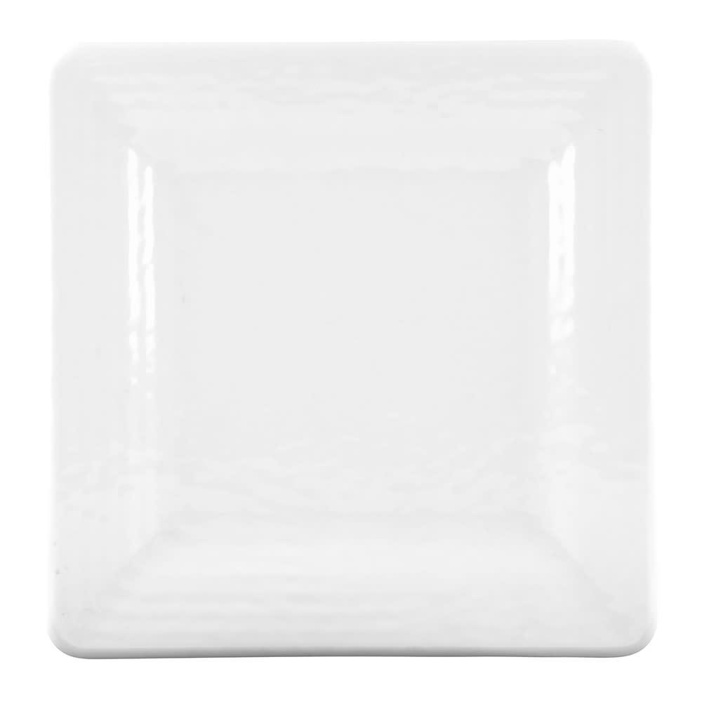 "Elite Global Solutions D9SQRR-W 9"" Pebble Creek Plate - Melamine, White"