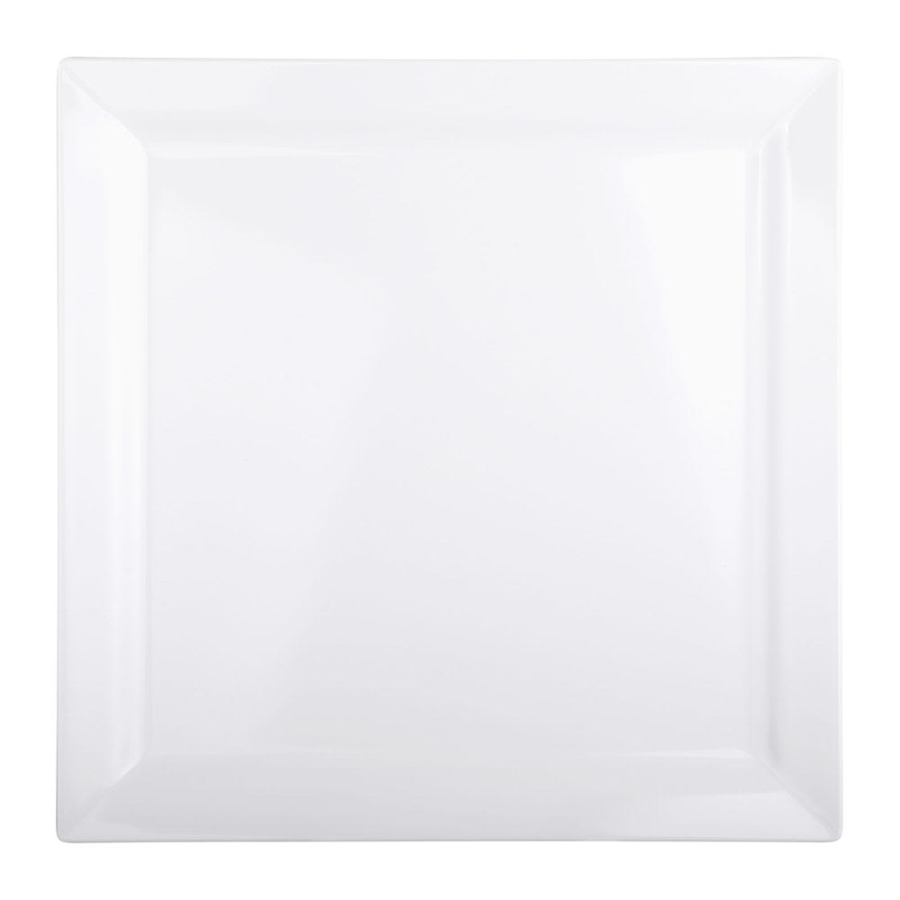 "Elite Global Solutions DS1111-W 11"" Square Vogue Plate - Melamine, White"