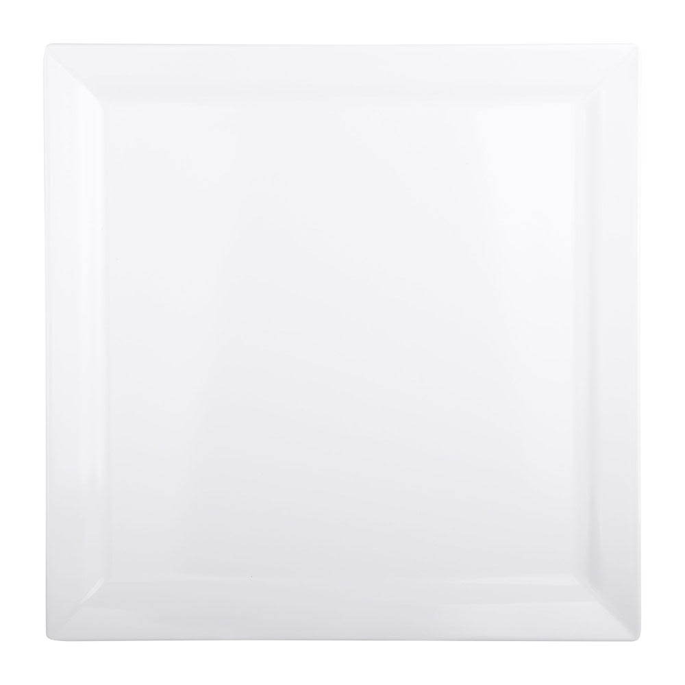 "Elite Global Solutions DS1225-W 12.25"" Square Vogue Plate - Melamine, White"