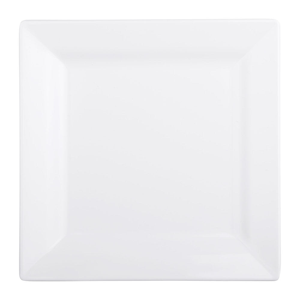 "Elite Global Solutions DS77-W 7"" Square Vogue Plate - Melamine, White"