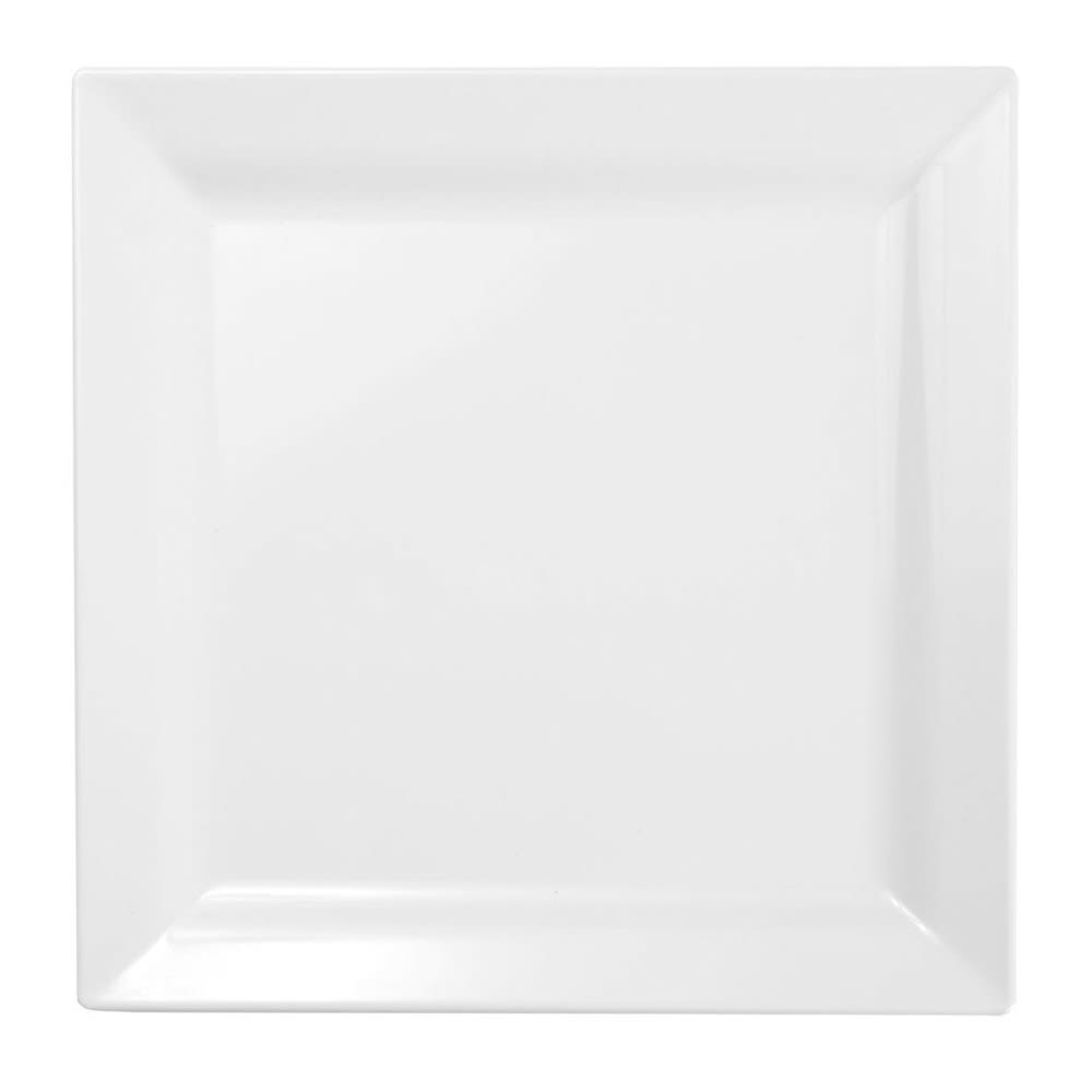 "Elite Global Solutions DS99-W 9"" Square Vogue Plate - Melamine, White"