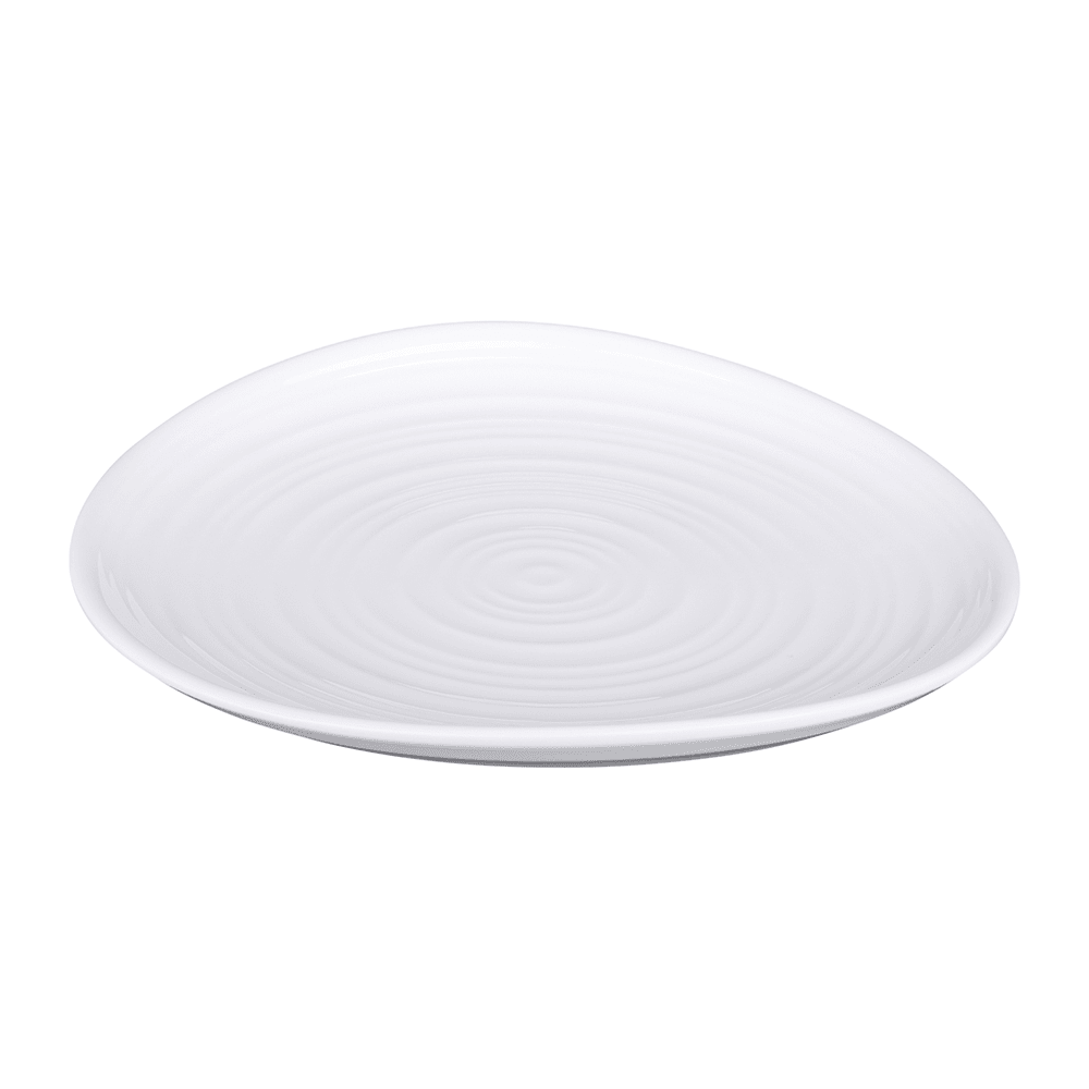 "Elite Global Solutions DS9 9"" Round Swirl Plate - Melamine, White"