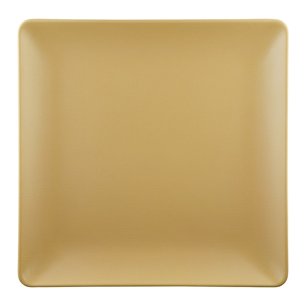 "Elite Global Solutions ECO1010SQ 10"" Square Greenovations Plate - Melamine/Bamboo, Rattan"