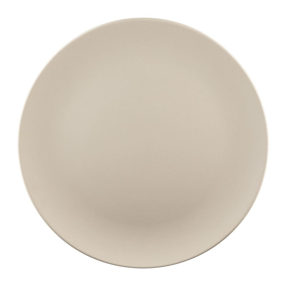 """Elite Global Solutions ECO1111R 11"""" Round Greenovations Plate - Melamine/Bamboo, Papyrus"""