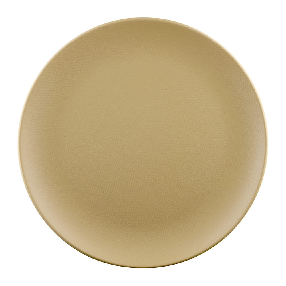 "Elite Global Solutions ECO1111R 11"" Round Greenovations Plate - Melamine/Bamboo, Rattan"