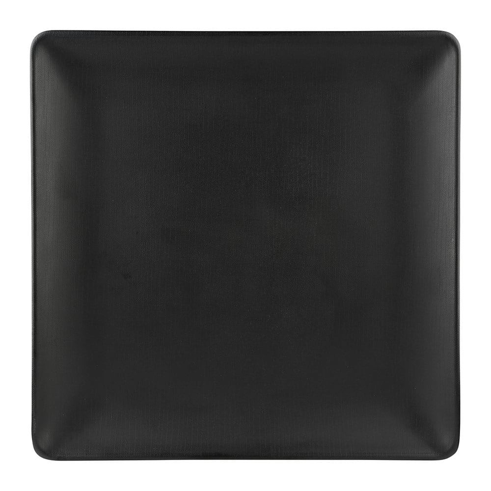 "Elite Global Solutions ECO1111SQ 11"" Square Greenovations Plate - Melamine/Bamboo, Black"