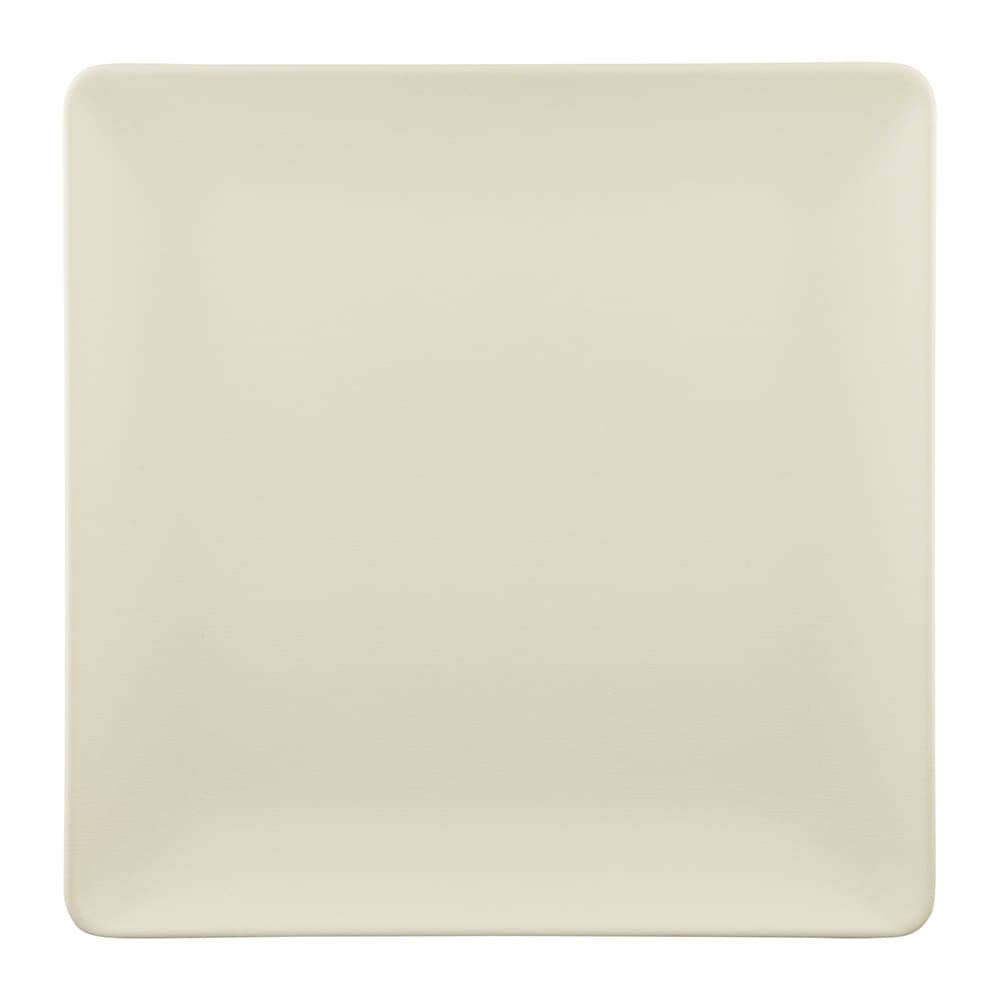 """Elite Global Solutions ECO1111SQ 11"""" Square Greenovations Plate - Melamine/Bamboo, Papyrus"""
