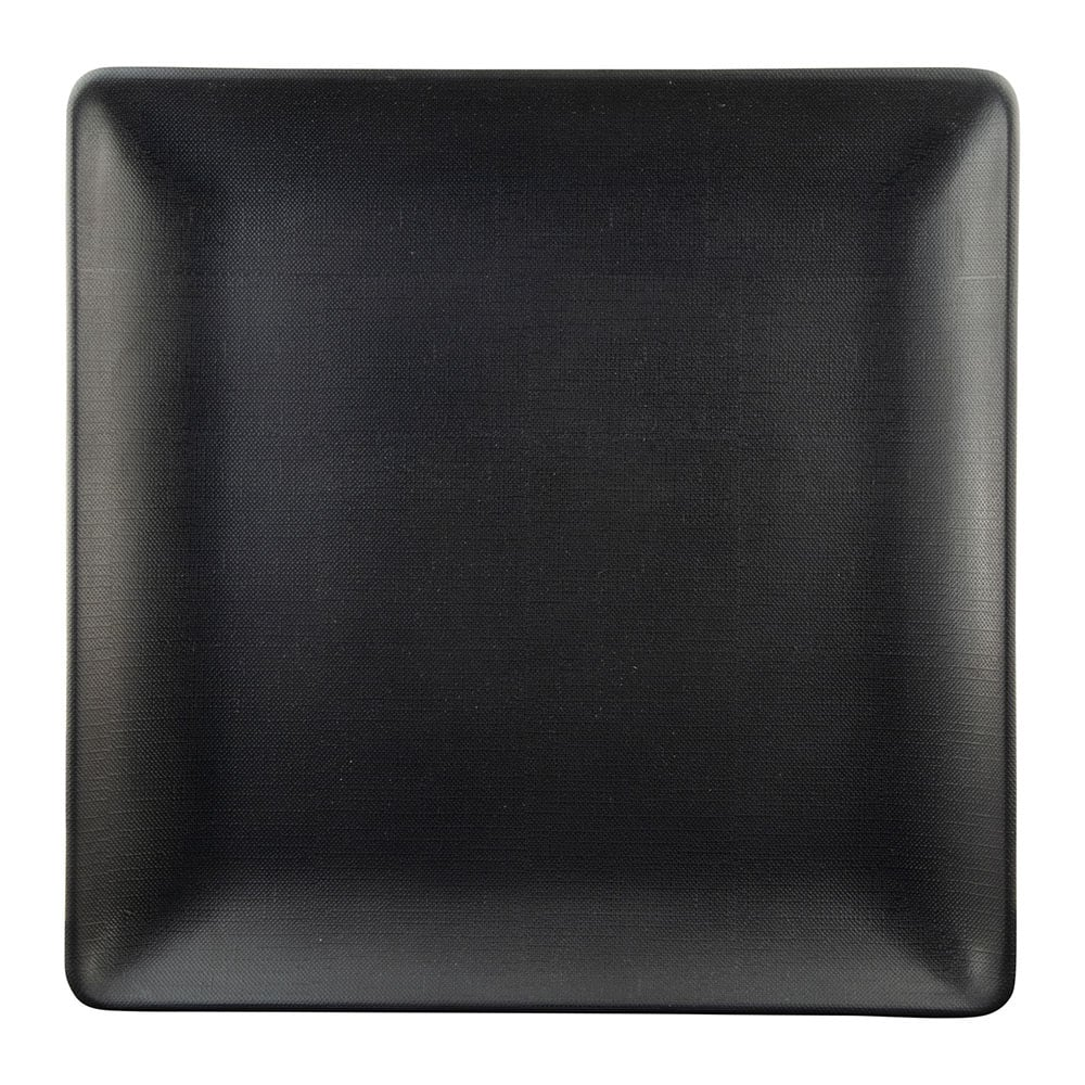 "Elite Global Solutions ECO66SQ 6"" Square Greenovations Plate - Melamine/Bamboo, Black"
