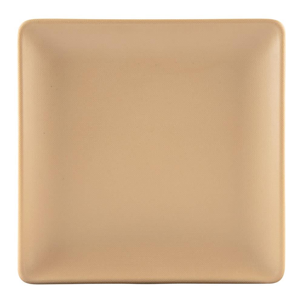 "Elite Global Solutions ECO66SQ 6"" Square Greenovations Plate - Melamine/Bamboo, Paper Bag"