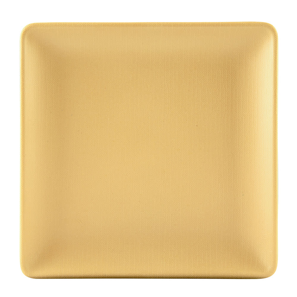"Elite Global Solutions ECO66SQ 6"" Square Greenovations Plate - Melamine/Bamboo, Rattan"