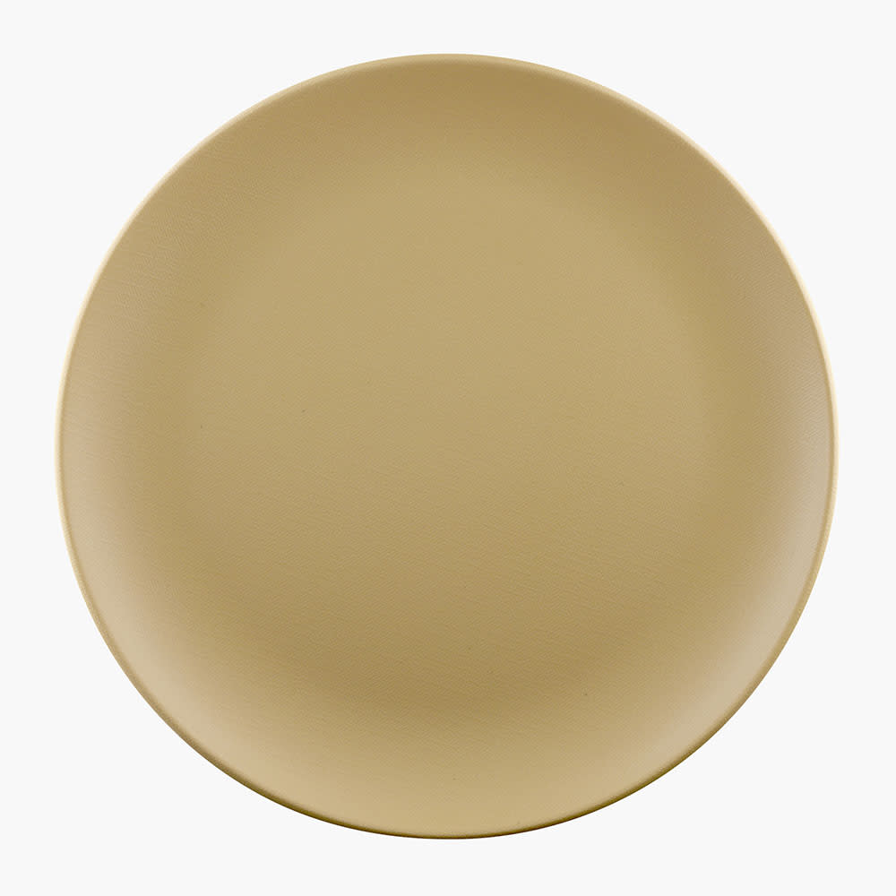 "Elite Global Solutions ECO99R 9"" Round Greenovations Plate - Melamine/Bamboo, Rattan"