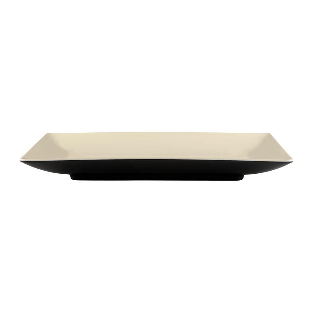 "Elite Global Solutions JW1382T Rectangular Karma Plate - 13"" x 8"", Melamine, Ebony/Sand"
