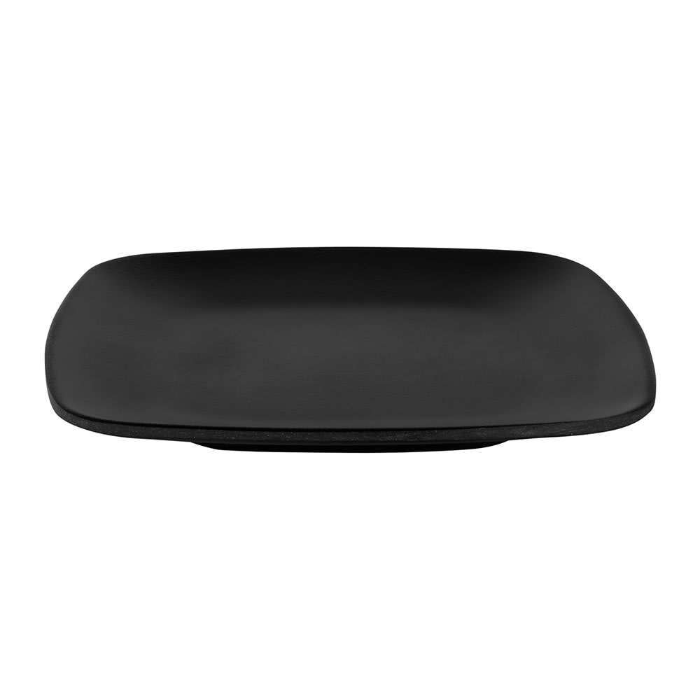 "Elite Global Solutions JW5006 5.63"" Square Zen Plate - Melamine, Black"
