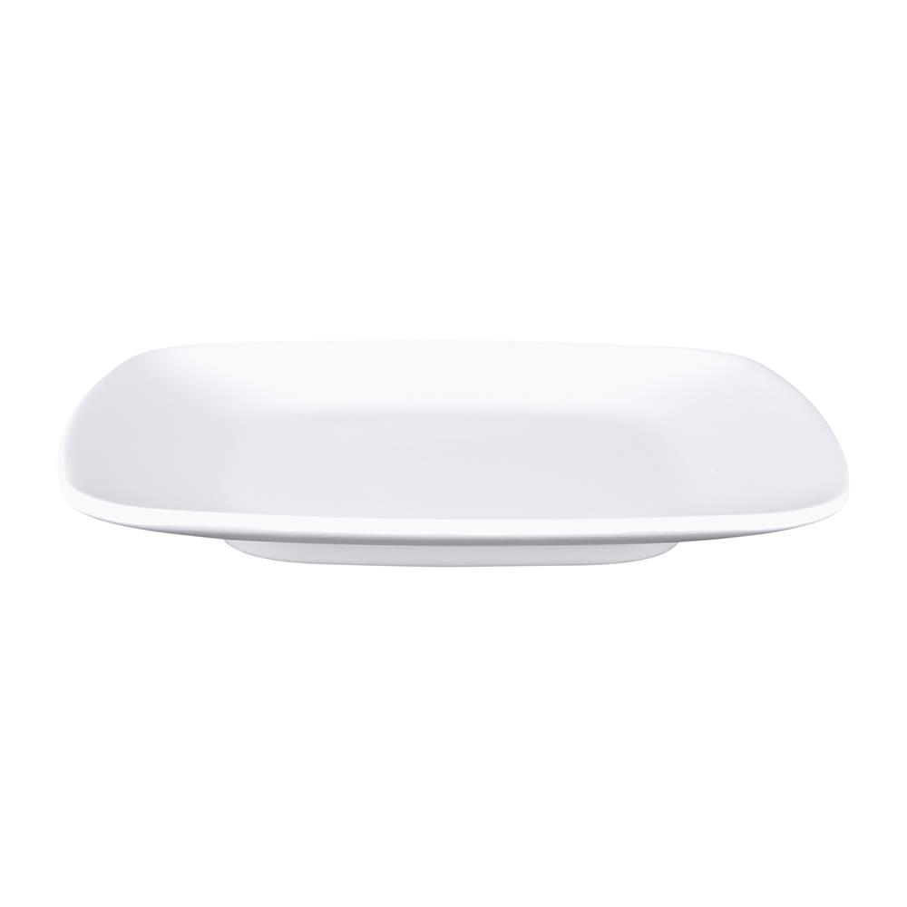 """Elite Global Solutions JW5006 5.63"""" Square Zen Plate - Melamine, White"""
