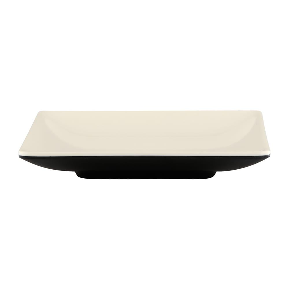 "Elite Global Solutions JW552T 5"" Square Karma Plate - Melamine, Ebony/Sand"