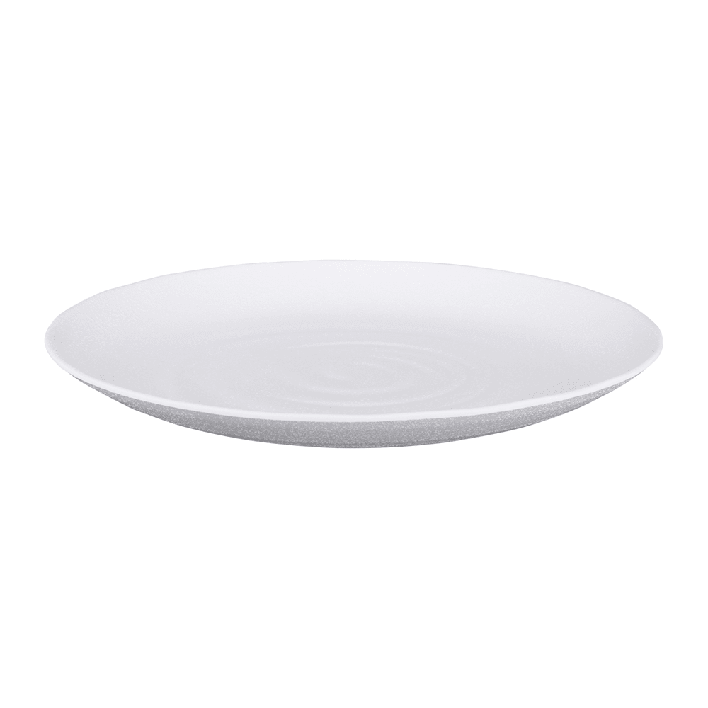"Elite Global Solutions JW7010 10"" Round Zen Plate - Melamine, White"