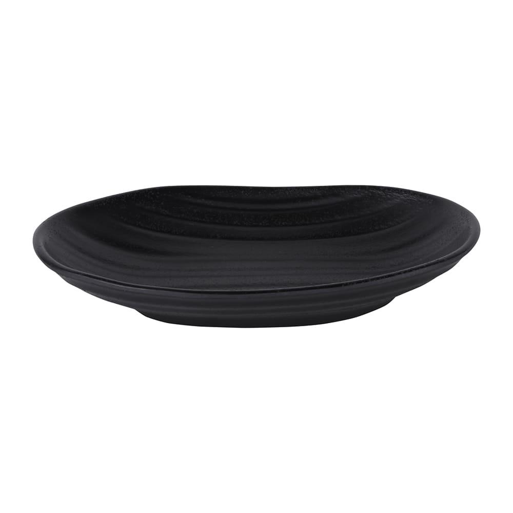 "Elite Global Solutions JW7307 Oval Zen Plate - 7.25"" x 4.5"", Melamine, Black"