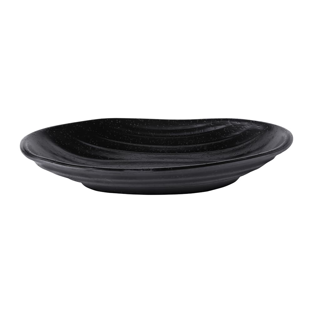 "Elite Global Solutions JW7308 Oval Zen Plate - 8"" x 5.13"", Melamine, Black"