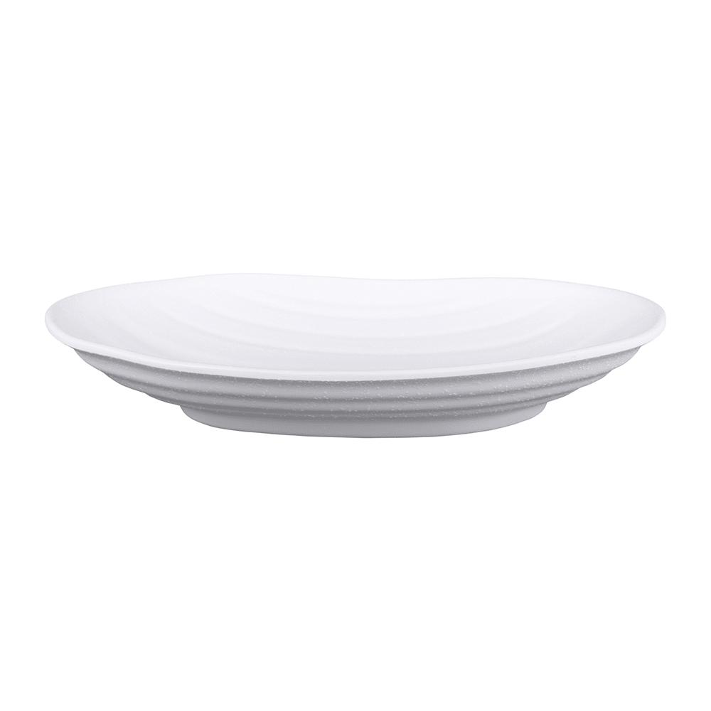 "Elite Global Solutions JW7309 Oval Zen Plate - 9"" x 5.75"", Melamine, White"
