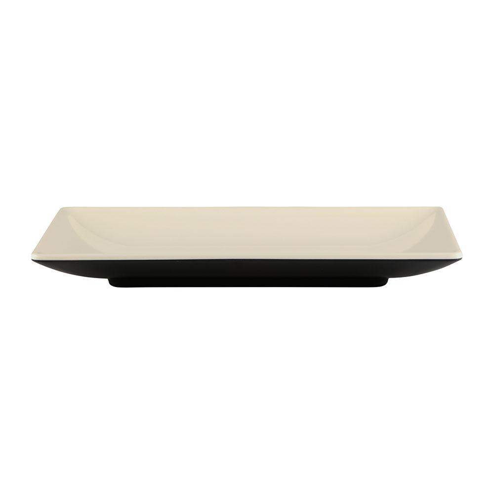 "Elite Global Solutions JW952T Rectangular Karma Plate - 9"" x 5"", Melamine, Ebony/Sand"