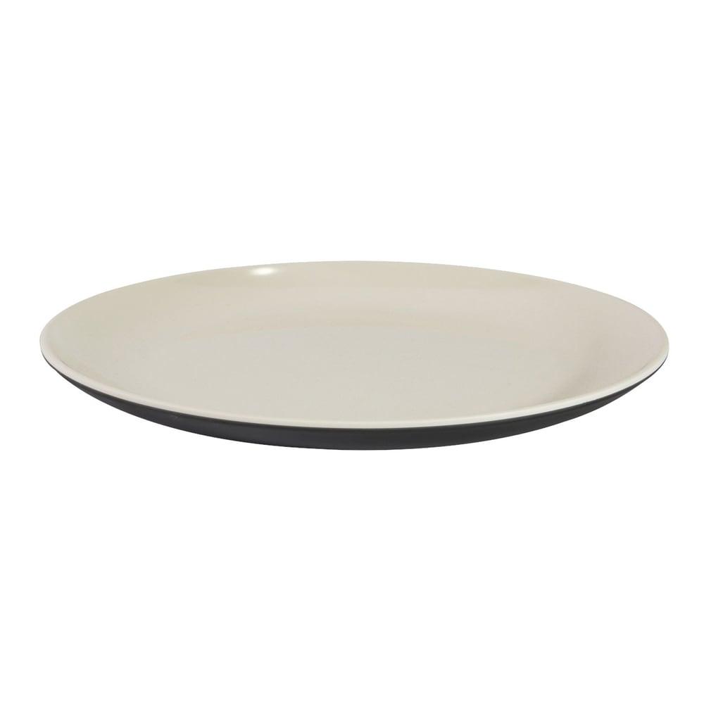 "Elite Global Solutions JW99R2T 9"" Round Karma Plate - Melamine, Ebony/Sand"
