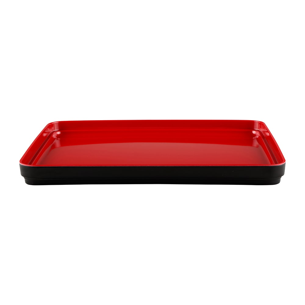 "Elite Global Solutions JWL11852T Lid for Karma Bento Box - 11.25"" x 8.75"", Melamine, Black/Red"