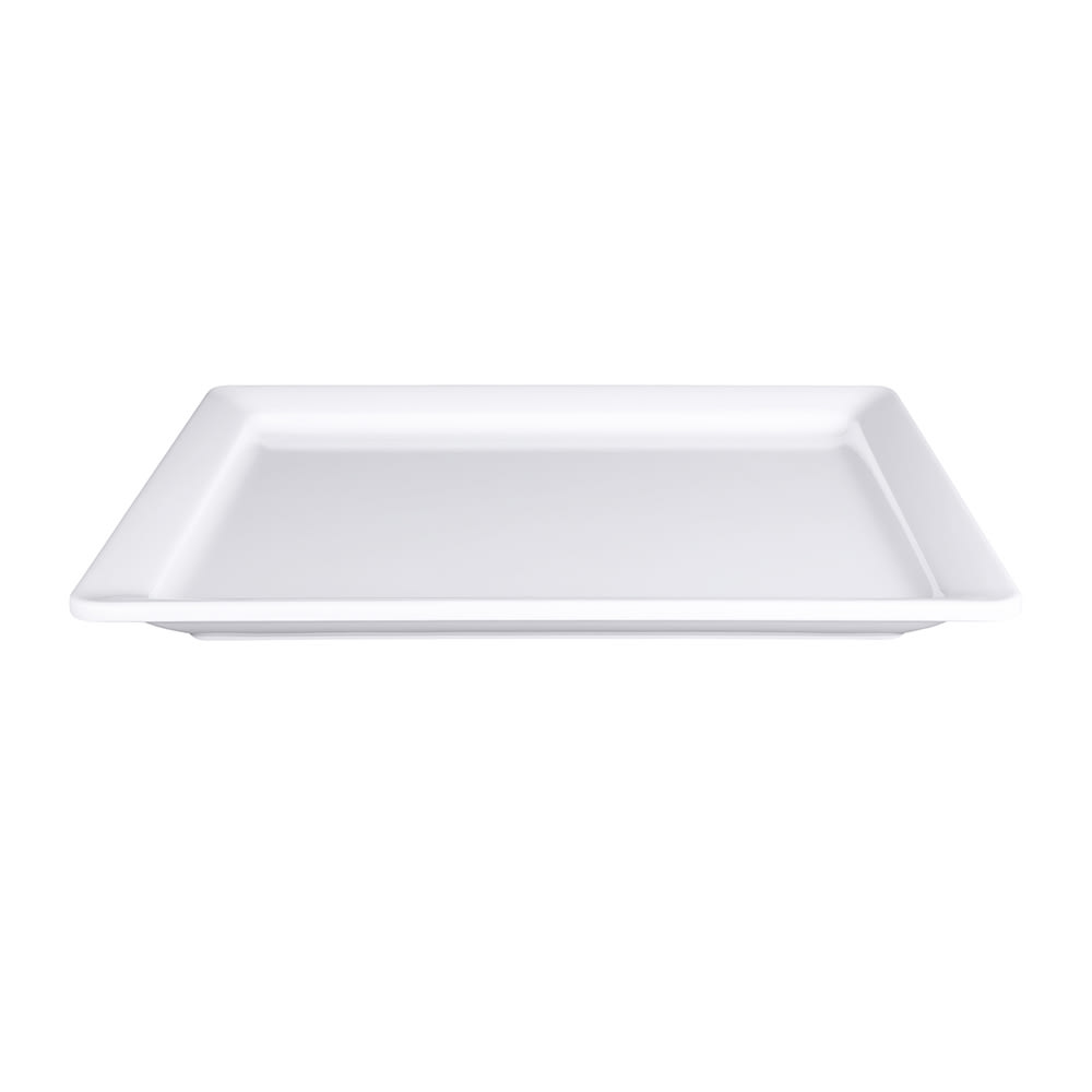 "Elite Global Solutions M1013RC-W Rectangular Vogue Serving Platter - 13"" x 10.5"", Melamine, White"