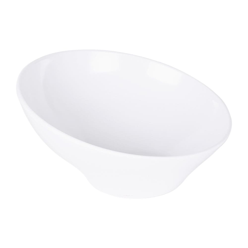 Elite Global Solutions M115-NW 2-qt Luna Angled Bowl - Melamine, White