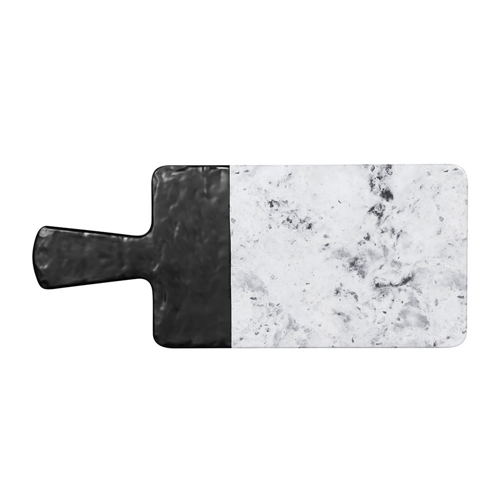 "Elite Global Solutions M127RCSM-BH Rectangular Horizon Slate Serving Board - 12"" x 7"", Melamine, Black Slate/Faux Horizon Marble"