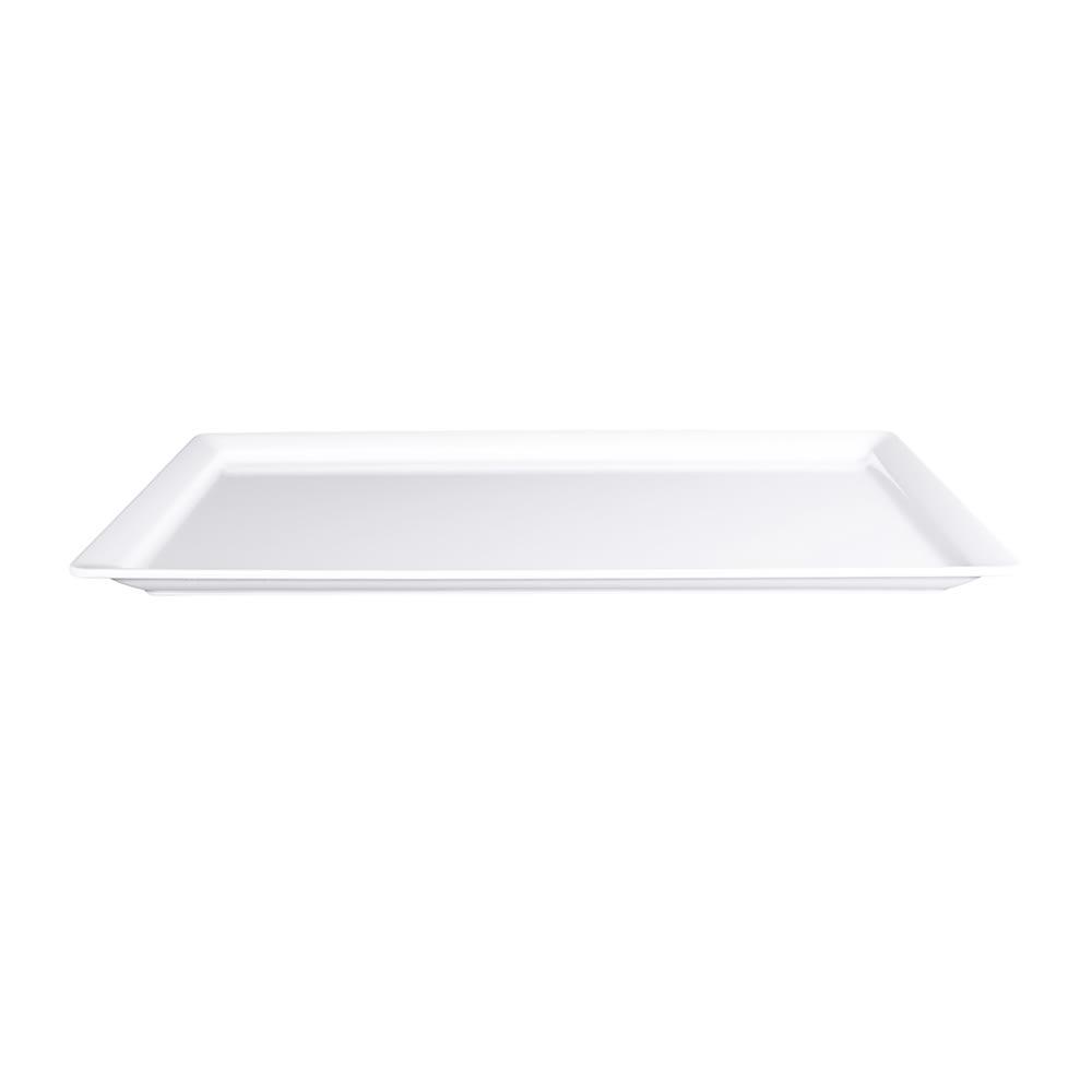 "Elite Global Solutions M1321-W Rectangular Vogue Serving Platter - 21"" x 13"", Melamine, White"